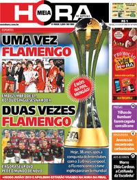 Capa do jornal Meia Hora 21/12/2019