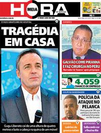 Capa do jornal Meia Hora 22/11/2019