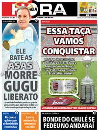 Capa do jornal Meia Hora 23/11/2019