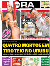 Capa do jornal Meia Hora 23/12/2019