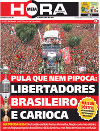 Capa do jornal Meia Hora 25/11/2019