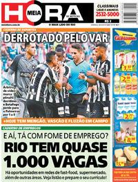 Capa Jornal Meia Hora 26/05/2019