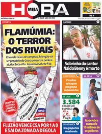 Capa do jornal Meia Hora 26/11/2019