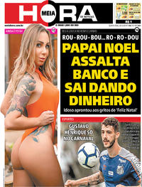 Capa do jornal Meia Hora 26/12/2019