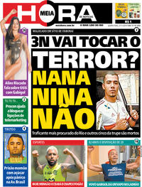 Capa do jornal Meia Hora 27/11/2019