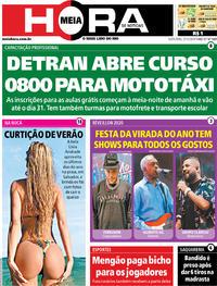 Capa do jornal Meia Hora 27/12/2019