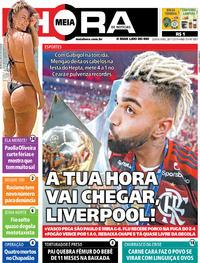 Capa do jornal Meia Hora 28/11/2019