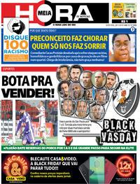 Capa do jornal Meia Hora 29/11/2019