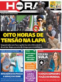 Capa do jornal Meia Hora 30/11/2019