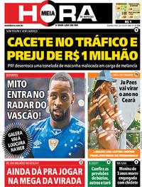 Capa do jornal Meia Hora 30/12/2019