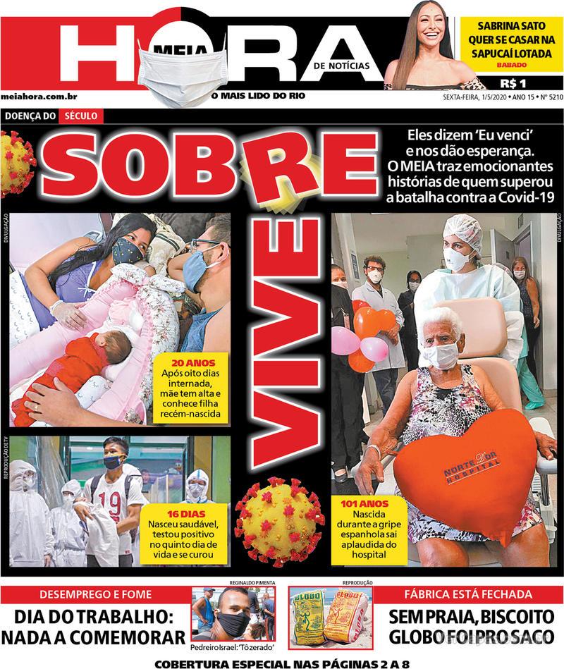 Capa do jornal Meia Hora 01/05/2020