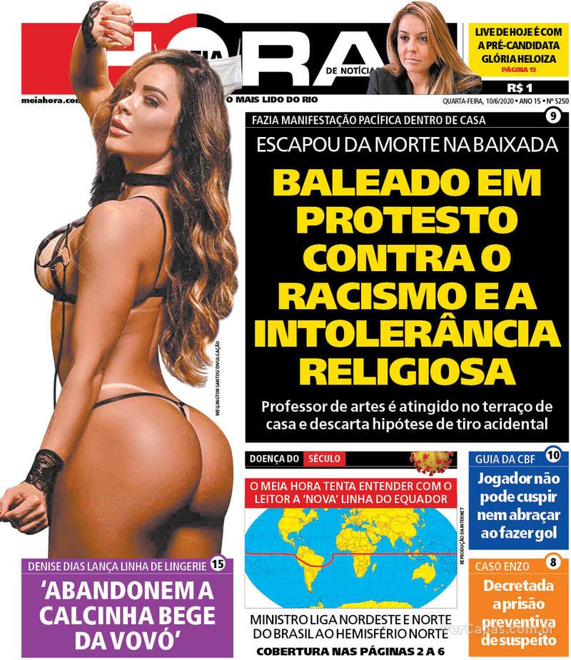 Capa do jornal Meia Hora 10/06/2020