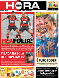 Capa do jornal Meia Hora 01/03/2020