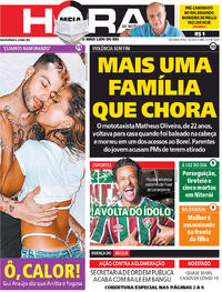 Capa do jornal Meia Hora 01/06/2020