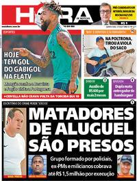 Capa do jornal Meia Hora 01/07/2020
