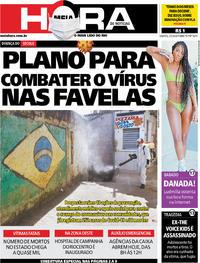 Capa do jornal Meia Hora 02/05/2020