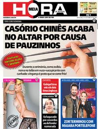 Capa do jornal Meia Hora 03/01/2020