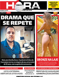 Capa do jornal Meia Hora 03/05/2020