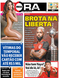 Capa do jornal Meia Hora 04/03/2020