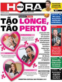 Capa do jornal Meia Hora 04/04/2020