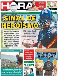 Capa do jornal Meia Hora 04/08/2020