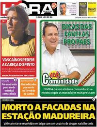 Capa do jornal Meia Hora 04/12/2020
