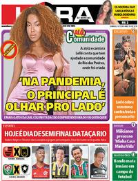 Capa do jornal Meia Hora 05/07/2020