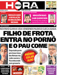 Capa do jornal Meia Hora 06/01/2020