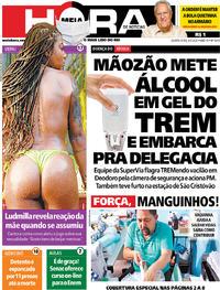 Capa do jornal Meia Hora 06/05/2020