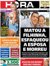 Capa do jornal Meia Hora 07/01/2020