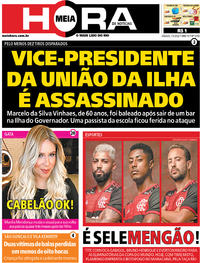 Capa do jornal Meia Hora 07/03/2020