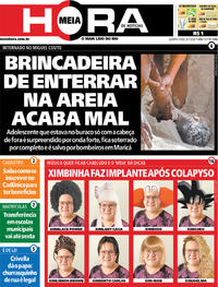 Capa do jornal Meia Hora 08/01/2020