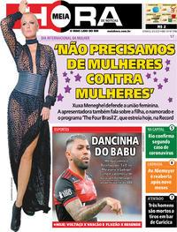 Capa do jornal Meia Hora 08/03/2020