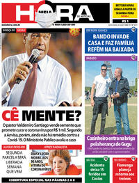 Capa do jornal Meia Hora 08/05/2020