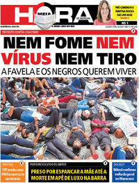Capa do jornal Meia Hora 08/06/2020