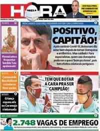 Capa do jornal Meia Hora 08/07/2020