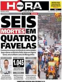 Capa do jornal Meia Hora 09/04/2020