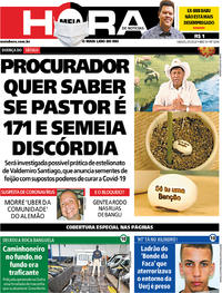 Capa do jornal Meia Hora 09/05/2020