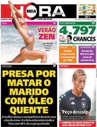 Capa do jornal Meia Hora 10/03/2020