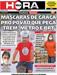 Capa do jornal Meia Hora 10/04/2020