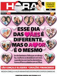 Capa do jornal Meia Hora 10/05/2020