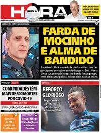 Capa do jornal Meia Hora 10/07/2020