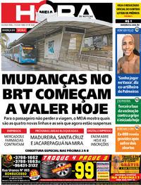 Capa do jornal Meia Hora 11/05/2020