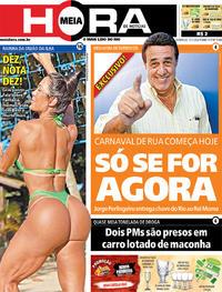 Capa do jornal Meia Hora 12/01/2020