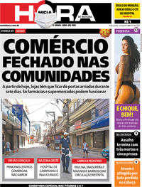 Capa do jornal Meia Hora 12/05/2020