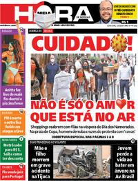 Capa do jornal Meia Hora 12/06/2020