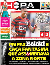 Capa do jornal Meia Hora 13/02/2020
