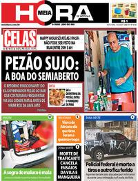 Capa do jornal Meia Hora 14/02/2020