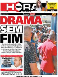 Capa do jornal Meia Hora 14/04/2020