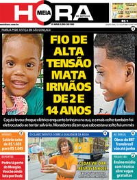 Capa do jornal Meia Hora 15/01/2020